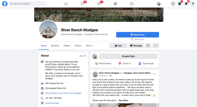 Example of good social media storytelling on Facebook for a short term rental host