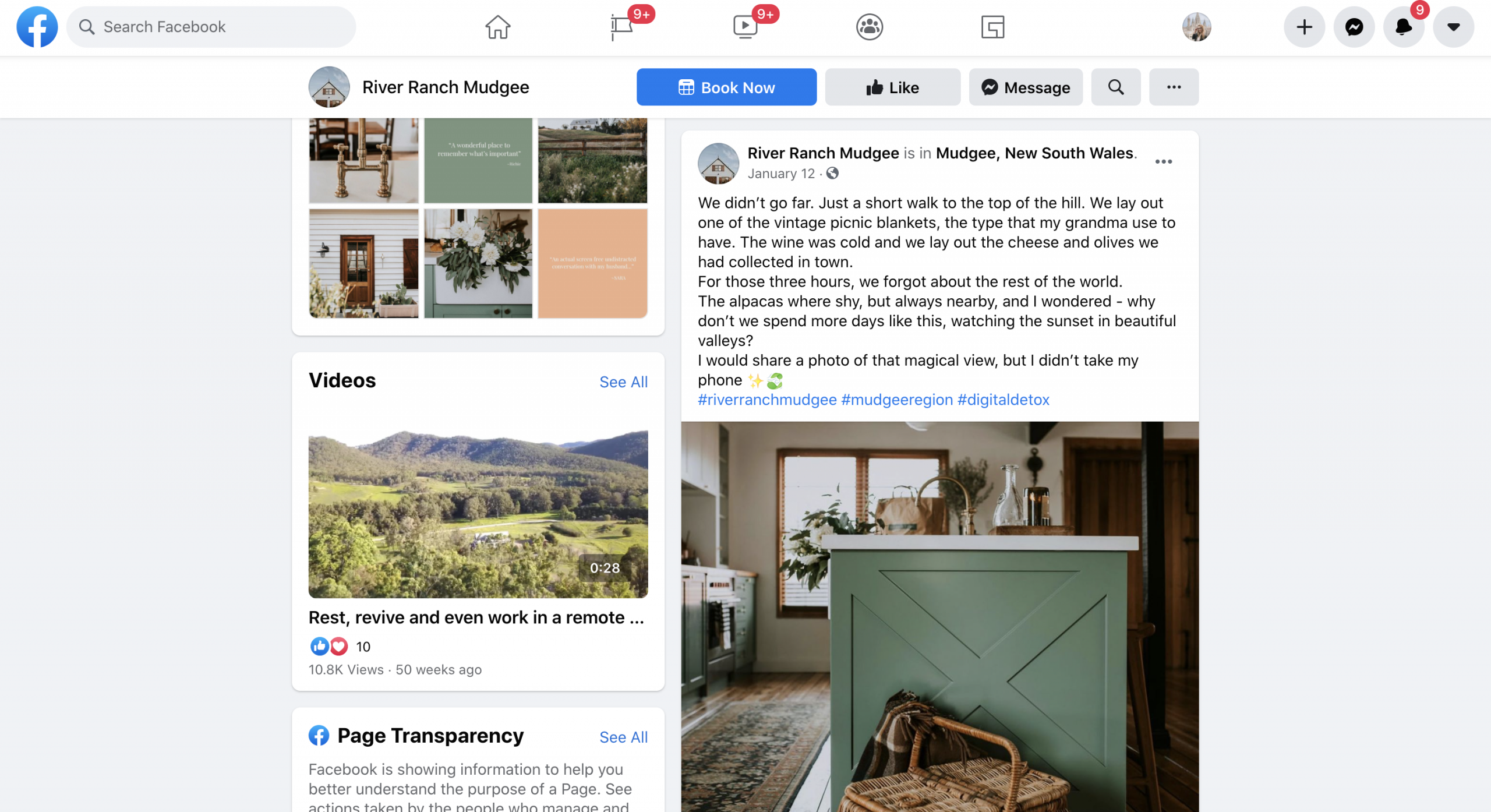 Example of how to promote airbnb listing on facebook