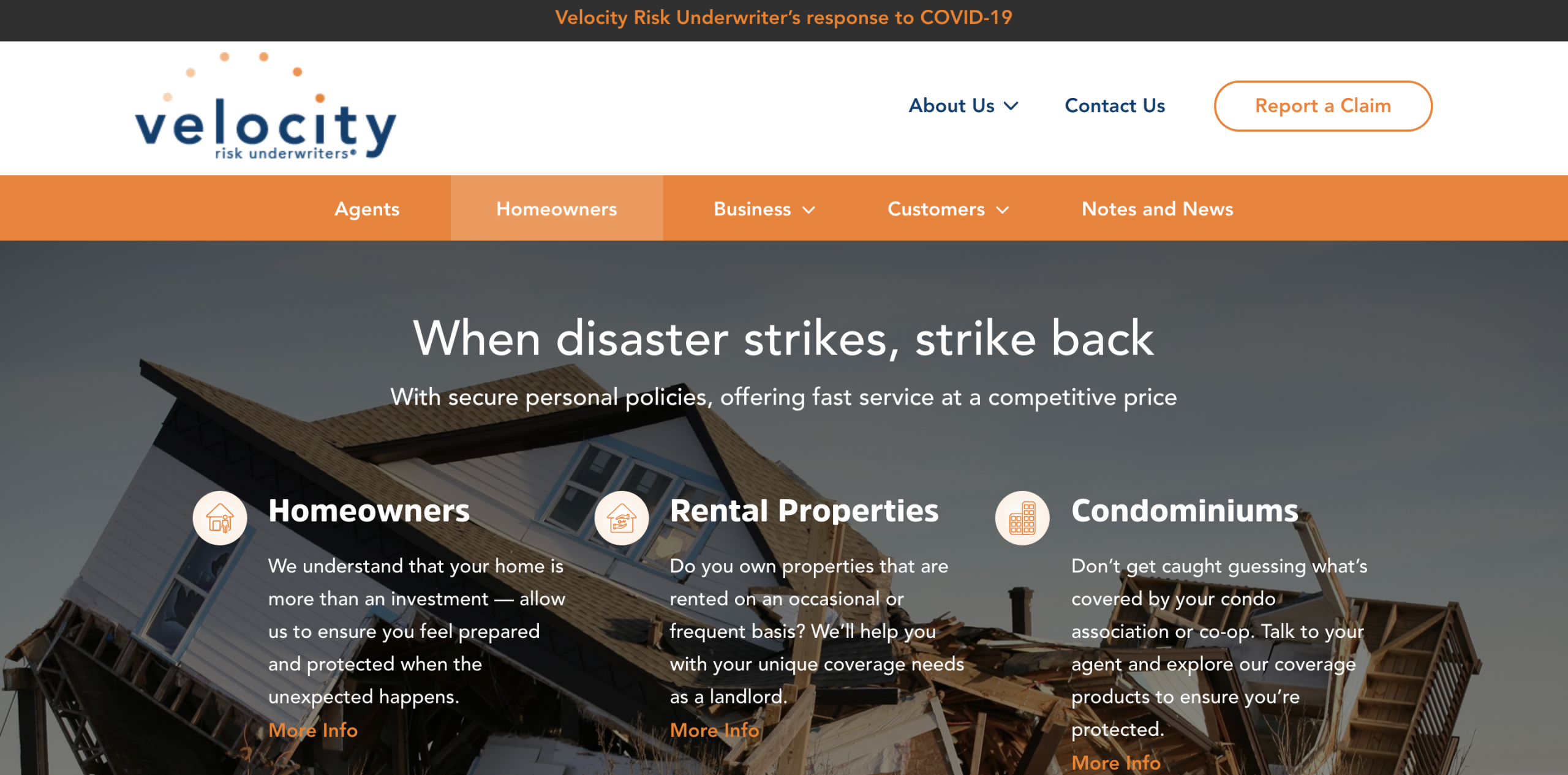 Velocity is an example of a vacation rental insurance