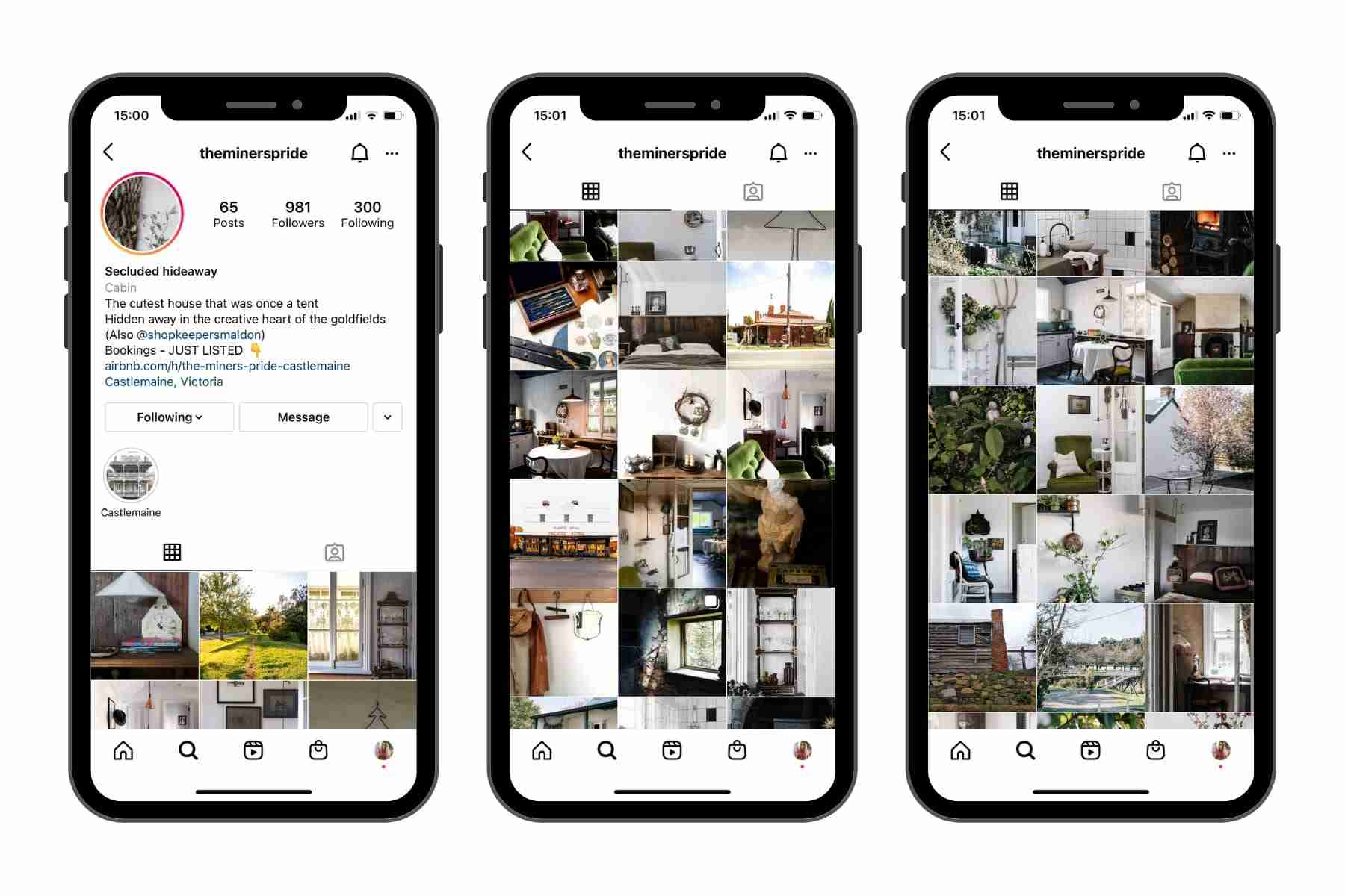 Screenshot showing how to create content on instagram if you have a vacation rental
