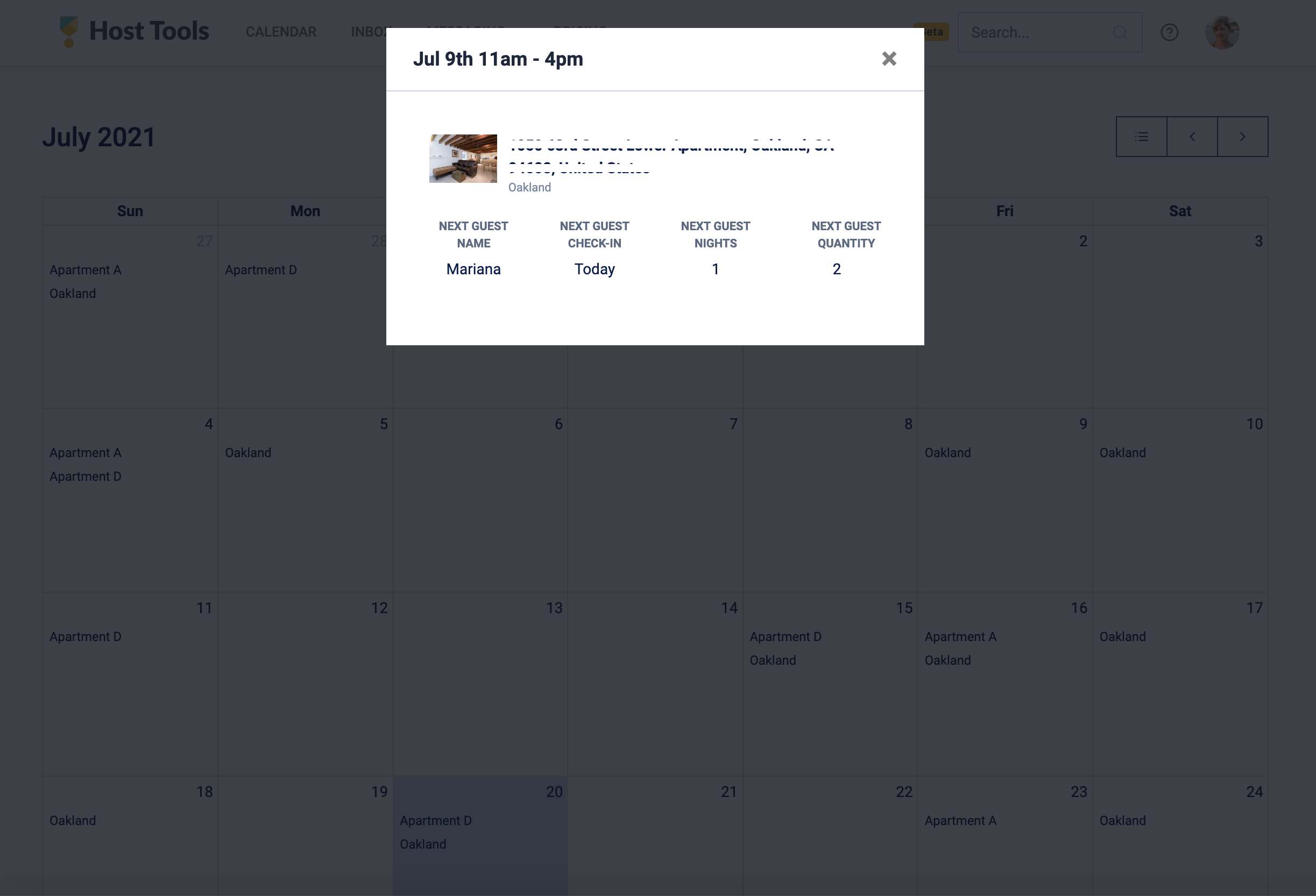 """Cleaning details from turnover """"calendar view"""""""