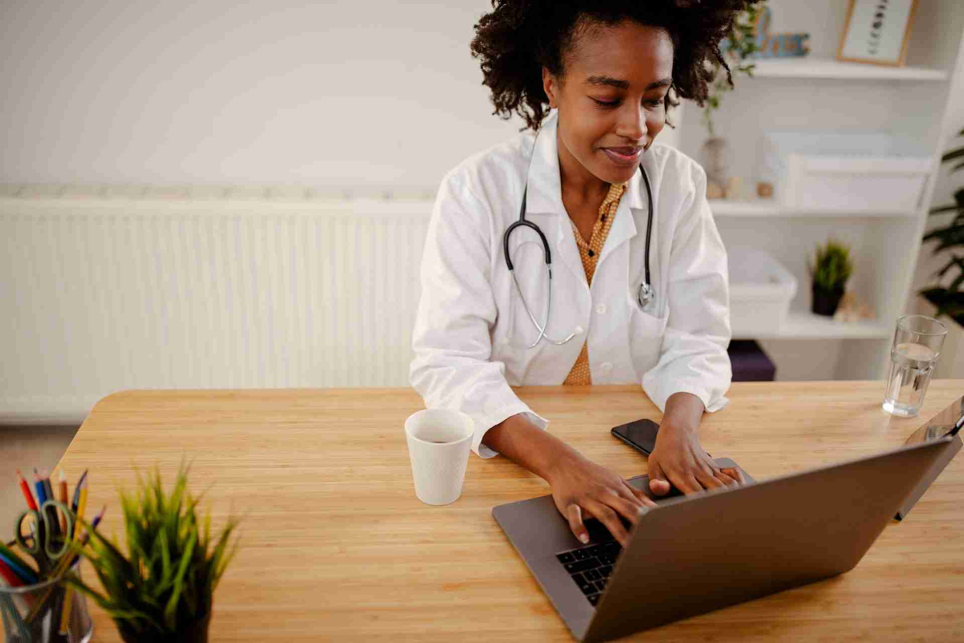 Medical professional working remotely from Airbnb